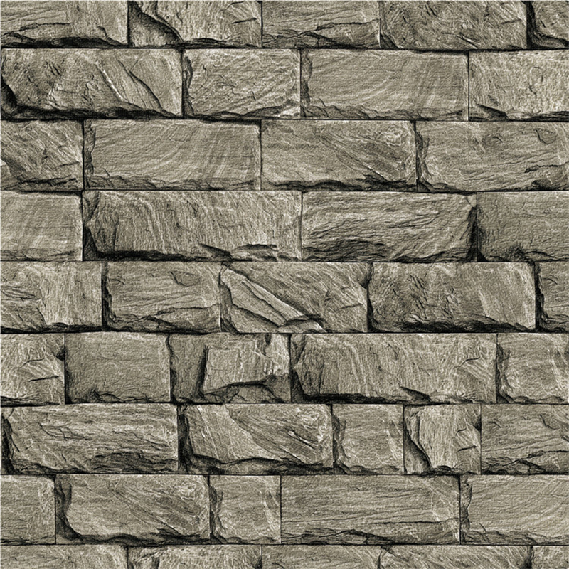 beibehang Foreign trade three - dimensional retro marble wallpapers imitation stone brick hotel living room background wallpaper<br>