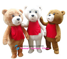 Teddy Bear Clothing Adult Size Teddy Bear mascot clothing Free Shipping