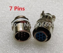 Free shipping 12mm fast connector M12 7pins aviation plug and aviation socket cable joint 2set/lot