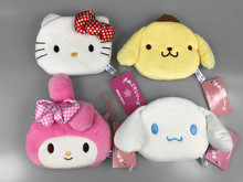 Hello Kitty Melody Cinnamoroll Pompompurin Coin Purse Unisex Wallet Multi-functional Kawaii Bag Anime Plush Toys(China)
