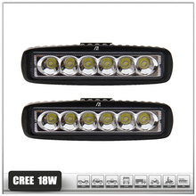 ZYHW Brand New Lights 18W LED Light Bar offroad Truck Trailer SUV ATV Off Road spot worklight Lamp flood Spot combo Beam QP239(China)