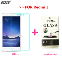 SIJIE Tempered Glass For Redmi 3 Screen Protector protective Explosion proof film discount thin front Ultrathin +retail package
