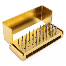 30pc Dental Diamond Burs Drill Disinfection + Block High Speed Handpieces Holder Teeth Whitening Tool Free Shipping WX0100(China)