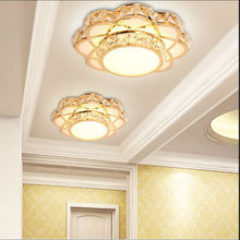 Fashion flowers LED Ceiling lamp led lamps new Pendant lamp Gold K9 crystal Chandelier High-power led lustre light Chandelier