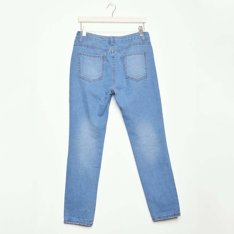 Autumn Fashion Jeans Women Loose Low Waist Washed Vintage Big Hole Ripped Long Denim Pencil PantsОдежда и ак�е��уары<br><br><br>Aliexpress