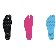Sticker Shoes Stick on Soles Sticky Pads NAKEFIT for Feet beach sock waterproof Hypoallergenic adhesive pad for walking freely(China)