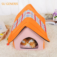 Cute little dog kennel house cat litter stereo is not easy to collapse of pet products(China)