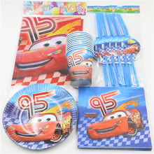 57pcs Cars Tablecloth Glass Kids Favors Cups Decoration Paper Plates Napkins Baby Shower Dishes Birthday Party Straws Supplies