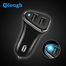 Elough Dual USB Car Phone Charger Adapter For iPhone 7 6s Samsung S8 Xiaomi Charge 5V 2.4A Universal LED Auto Mobile Car-charger(China)