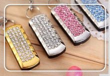 Popular genuine fashion crystal metal usb flash drive best gift for girl 4gb 8gb 16gb 32gb 64gb menory u disk pen driveS147