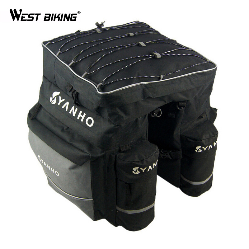 WEST BIKING Three In One Shelf Package Bike Cycling Mountain Bike Pack Package Shelf Rain Cover Bicycle Rear Rack Bag<br>