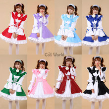 Lolita Princess Long Sleeve Fancy Apron Maid Dress Outfits Meidofuku Uniform Anime Cosplay Costume S-XXL