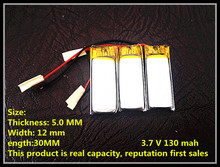 Watch point of time machine battery , battery point reading pen , mini DV rechargeable lithium battery 501230 130MAH(China)