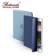 Fashion Magnetic Smart Case for iPad 9.7 inch 2017 New Model Ultra Slim PU Leather Cover Flip Auto Wake Up Sleep Navy Sleeve