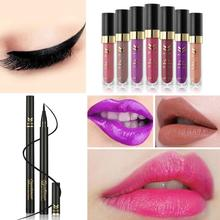 Non-Stick Liquid Lipstick Slim Dry Eye Waterproof Pencil Combination Of Makeup Y428(China)