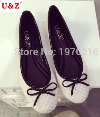 2016 Women Footwear Casual Check pattern Slip-On bowtie Women Flats Mother Shoes cute Nurse Shoes Comfortable ballet Flats 35-41<br>