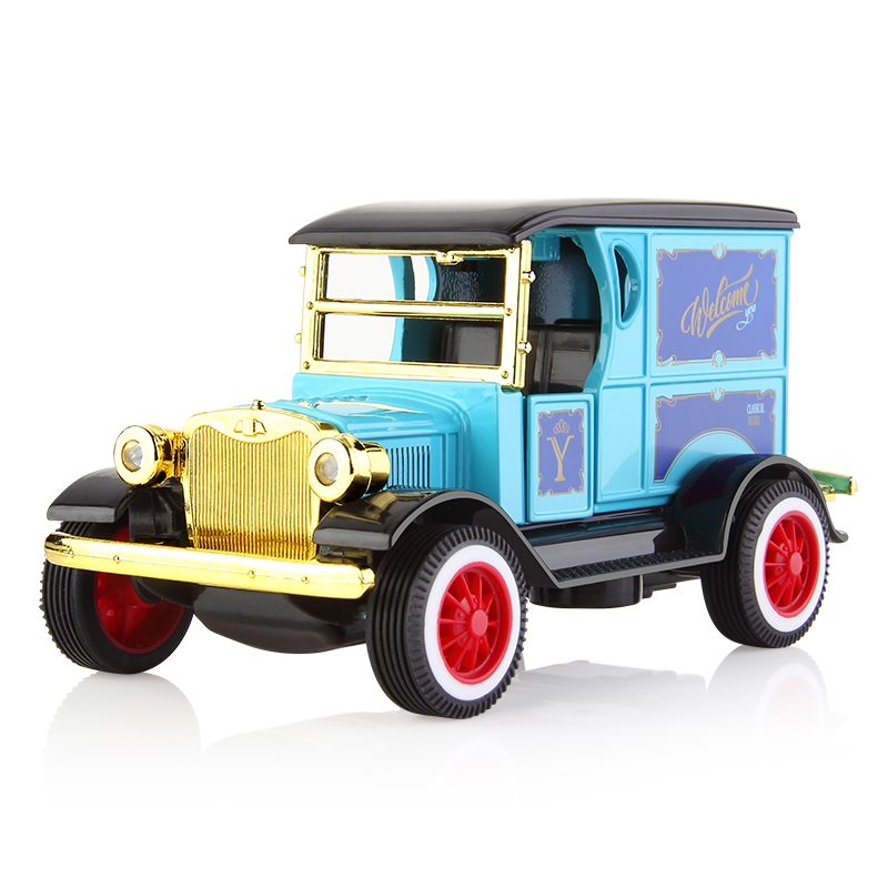 1:36 Pull Back Car Child Toys Music Door Open Vehicle Diecast Model Classic Car Toy Kids Children