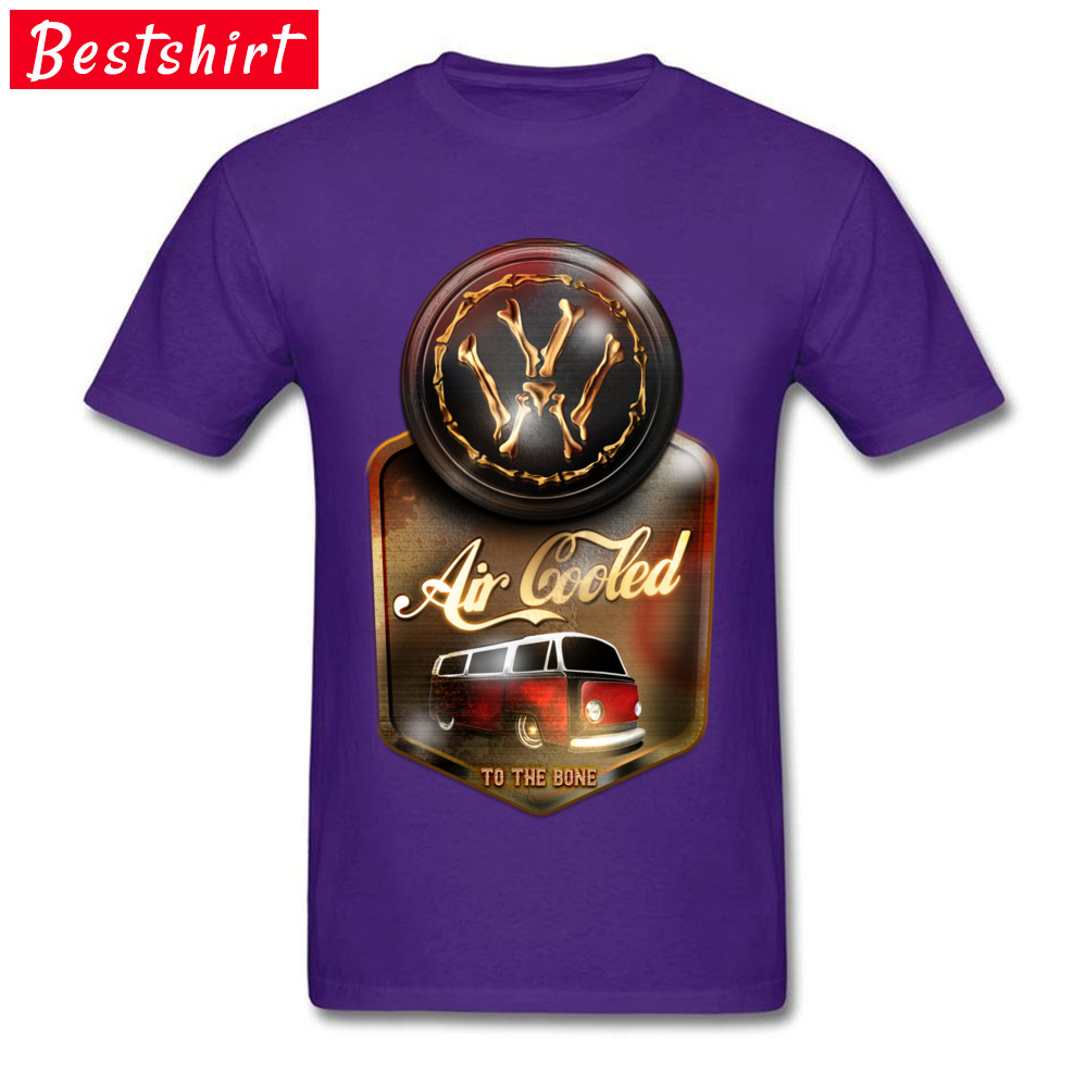 Air Cooled to the Bone Europe NEW YEAR DAY Pure Cotton O Neck Youth Tops & Tees T Shirts 2018 Newest Short Sleeve T-shirts Air Cooled to the Bone purple