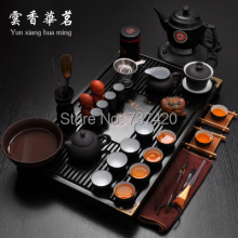 Best crafts 35pcs\set kungfu pu er tea sets tray kettle adapter plug ceramics classtic china tea sets tea tools free shipping