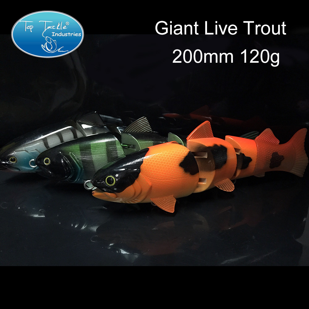 Giant Live Trout(200mm 120g) fishing lure swimbait jointed bait lure <br><br>Aliexpress