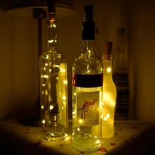 Buy 2M LED Copper Wire String Light Bottle Stopper Glass Craft Bottle Fairy Valentines Wedding Decoration Lamp Party for $1.25 in AliExpress store