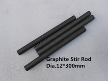 carbon graphite rod dia.12*300mm / pure Graphite stirring rod melting mixing JEWELRY, FREE SHIPPING 1Pcs(China)