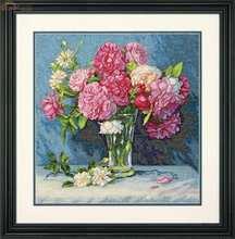 Прекрасный Золотая коллекция Счетный крест комплект Марии букет пион пионы цветок цветы в вазе DIM 35295 70- 35295(China)