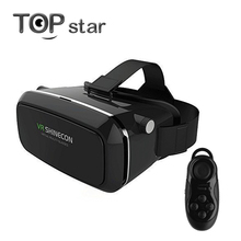 Shinecon VR 360 Video Immersive Virtual Reality 3D VR Headset Google Cardboard Games Glasses Compatible +Remote Controller(China)