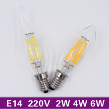 [MingBen] Retro LED Candle E14 Bulb 220V 2W 4W 6W Antique Style Filament Light Bulb Cold White Warm White Chandelier Light Lamp