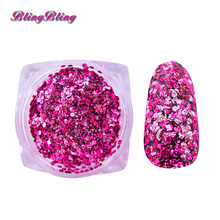 1mm Sakura Flake Glitter Nail Sequins Ultrathin Nail Art Multicolor Shiny Pink Nail Glitter For Design Nail Accessoires Manicure