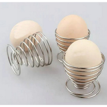 1pc Stainless Steel Spring Wire Tray Boiled Egg Cups Holder Stand Storage Egg Cup Cooking Tool