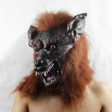 Free shipping ,halloween suppliers ,latex wolf full head mask ,halloween masquerade horror mask