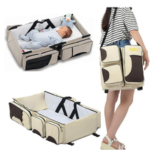 newborn baby bed multifunctional baby portable foldable bed mobile baby diaper nappy bags shoulder bag for mom