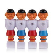 4pcs Rod Foosball Soccer Table Football Men Player Replacement Parts Red+Blue