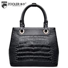 ZOOLER leather shoulder bag ladies bag spring 2017 new crocodile pattern Messenger bag head layer of leather handbag tide