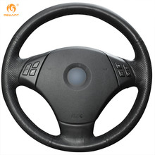 Mewant Black Artificial Leather Car Steering Wheel Cover for BMW E90 320 318i 320i 325i 330i 320d X1