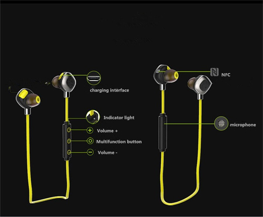 Volemer U5 Plus IPX7 Waterproof Sport Earphone Magnetic Stereo Auriculares Wireless Earbuds Running Bluetooth Headset Microphone