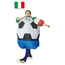 Italy Italia Soccer Inflatable Fat Suit Football Costume Airblown Fancy Dress Outfit Carnival Fantasy Football Halloween Costume(China)