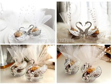 10pcs European Romantic Swan Wedding Favor Gift Box Candy Boxes Favors Celebration Party