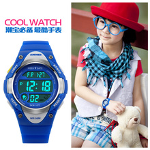 Cool Kid's Watch Student Waterproof Sport Glowing Wristwatch Countdown Clock Swimming Cycling Watches for Boys Girls Present(China)