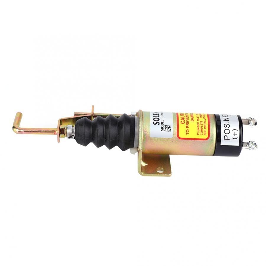 Electric Solenoid Valve 366-07198 SA-3405T Fuel Shutoff Solenoid Valve for Electric Generator 24V