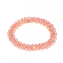 Fashion Girl Lady Bracelet Bangle Cuff woven crystal pink stretch bracelet Women Jewelry Free