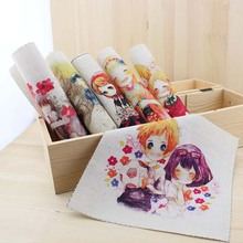 cartoon comic diy felt cotton fabric cloth doll for sewing patterns crafts print material patchwork dyeing fabric painting tissu