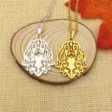 LPHZQH wholesale Boho Chic Cavalier King Charles pendant necklace Women chain choker Jewelry charm gift Steampunk gold color(China)