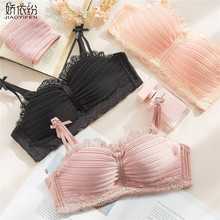 Buy JYF Brand 2018 New Sexy Lace Underwear Set Wire Free Bra Push Gather Ffunction Women Bra Young Girl Lingerie Bra & Brief Sets