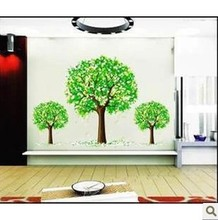 1 Piece Hot Sell! 105*60cm Flower Tree Large Wall Stickers For Children&Kids Room Wall Art Vinyl Paper Mirror Poster Decal Green
