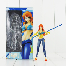 One Piece Figure Nami Milky Ball Battle Ver. PVC Action Figure 15CM Nami Collectible Model Toy Figurine One Piece Anime