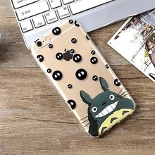 Cute Cartoon Totoro Phone Cases Ultra Thin Transparent Soft TPU Back Covers For iphone 5 5S SE 6 6S Plus Case Cover YC1928
