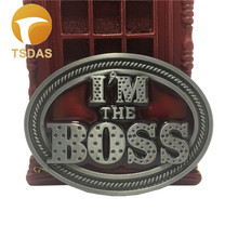 I'm the BOSS Metal Belt Buckle For Men Fit 4cm Wide Belt Jeans accessories Fashion Men Silver Belt Buckle Classic Gift