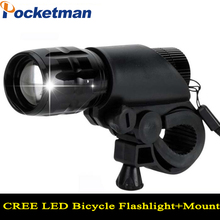 New Bicycle Light 7 Watt 2000 Lumens 3 Mode CREE Q5 LED Bike Light Front Torch Waterproof + Torch Holder ZK67